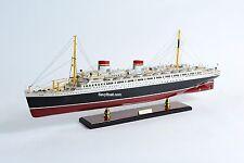 """SS Rex Italian Ocean Liner Handmade Wooden Ship Model 34"""""""
