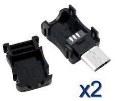 2x Connecteur Micro USB 5 broches +Boitier 2 pièces / 2pcs Connector 5 pins +Box