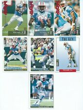 HOUSTON OILERS x 7 Collectors Choice Update 1995 NFL Cards