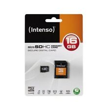 Memoria-tarjeta micro SD HC 16gb + SD-adaptador-intenso-para móvil/Smartphone...