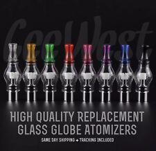 10 Color Pyrex Glass Globe Vape Atomizer With Ceramic Heating Coils