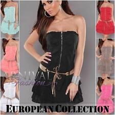 SEXY SHORT SUMMER DRESS size 6 8 10 12 WOMEN CASUAL MINI BEACH XS S M L belt AU