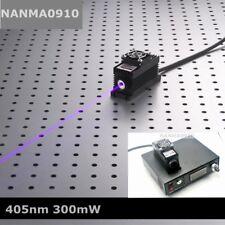 300mW 405nm Purple/Blue Laser Dot Module + TTL/Analog + TEC Cooling + Lab Power