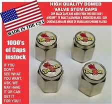 Domed Plymouth Mopar Dodge Duster Demon Valve Stem Caps NICE - NO ABS Plastic