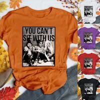 Hocus Pocus Shirt Womens Short Sleeve Halloween Top Fashion Autumn Plus Size