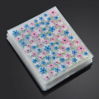50X 3D Nail Art Tips Stickers Decals Water Transfers Decoration Mix Style Flower