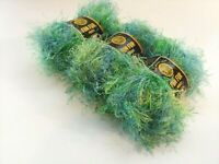 Bizzy1, Lion Brand Eyelash Yarn Fun Fur Prints #207 Citrus, 3 Skeins