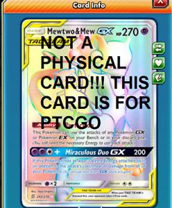 DIGITAL Mew & Mewtwo gx TAG TEAM Secret Rare pokemon tcg online