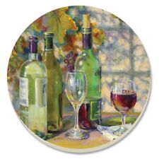 Counter Art Absorbent Stoneware Coasters, Set of 4, Vintage Wine, 14174