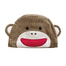 BABY BEANIE Sock Monkey UNISEX 0-6 months Personalized Free