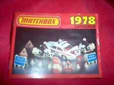39 Year Old Matchbox Toy  Car Catalog  EXC