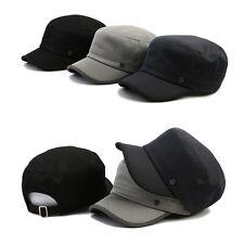 XL~2XL 61~64Cm Unisex Mens Mqum Mesh Airy Cadet Cap Military Strapback Hats