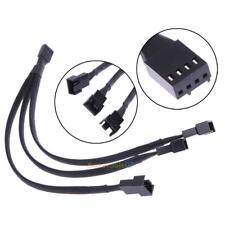 4 Pin PWM Lüfter Kabel 1 bis 3 Wege Splitter Black Sleeved Verlängerungskabel