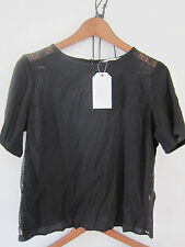 Zara Viscose Crew Neck Semi Fitted Tops & Shirts for Women