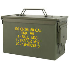 Mil-Tec Cal.50 US Army Ammo Steel Box Range Storage Tool Carrier Container Olive