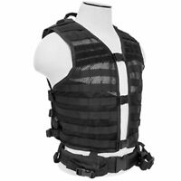 NcSTAR Airsoft Hunting MOLLE Hydration Ready Tactical Vest Regular Size Black