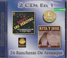 Dueto Las Perlitas y Rita y Jose 2 CD's en 1  24 Rancheras De Arranque
