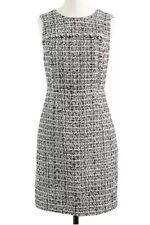 JCREW Noir 2 Sleeveless Tweed Sheath Dress