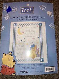 Winnie The Pooh Cross Stitch Birth Announcement #113217