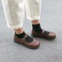 Chic Womens Flat Retro Pump Shoes Girls Sweet Lolita Shoes College Japanese Sbox