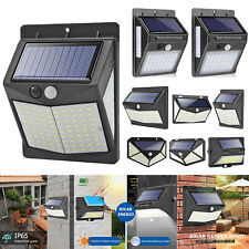 50-208LEDS Solar Power Light PIR Motion Sensor Security Outdoor Garden Wall Lamp