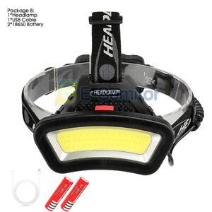 50000LM USB Rechargeable LED Headlamp Head Torch Flashlight Headlight Work light