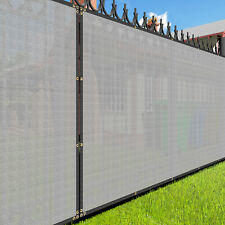 Customize Gray 4FT Privacy Screen Fence Commercial Windscreen Mesh Cover