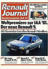Renault Alpine A310 5 Turbo Fuego 1981 catalogue brochure salon Francfort