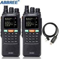 2Pcs ABBREE AR889G GPS-Handfunkgerät VHF UHF-Funkgerät GPS-Positionsbestimmung