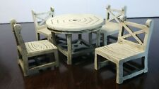 Patio Set Dollhouse Miniature Table and Chairs Furniture ~Fairy Garden~