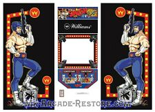 "Smash Tv 25"" Side Art Arcade Cabinet Artwork Graphics Decals Full Set"