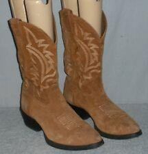 Tony Lama Men's Suede Cowboy Boots Size 10.5 D Camel Brown BB2022 Botas Vaqueras