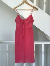 Pink 100% Silk Zimmermann dress size 0 spaghetti straps empire line party dress
