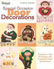 Special Occasion Door Decorations Plastic Canvas Pattern Book Santa Turkey NEW