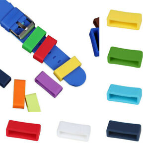 5Pcs Silicone Rubber Watch Strap Band Keeper Holder Hoop Loop Ring Retainer