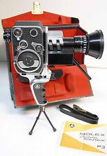 CAMERA PAILLARD BOLEX - modèle ZOOM REFLEX P3 - 8 mm - 1963 -N° A 40568+ POIGNEE
