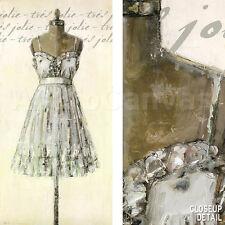 """27""""x54"""" TRES JOLIE by PARIS GERRARD FASHION DRESS ON STAND ART NOUVEAU CANVAS"""