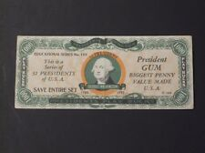 1933 Dietz Gum Presidents Play Bucks - George Washington  SUPER CONDITION!!!!!!