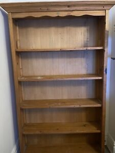 Early settler Solid 4-Tier Pine Bookcase