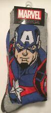 Two pairs Captain America Crew Socks Men 6-12 Marvel Universe INFINITY WAR