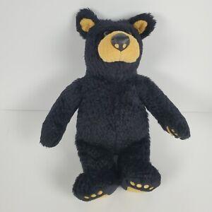 Bearfoots Bear Plush Big Sky Carvers Vintage 1996 Black Tan Teddy Button Bronze