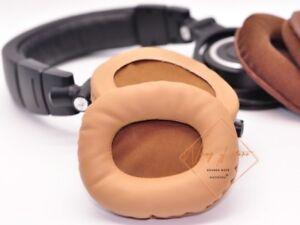 Brown Gold Ear Pad Cushion For ATH-M50 M50S M50X M40 M40S M40X Headphone EarMuff