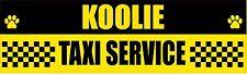 Koolie Taxi Service Dog Sticker