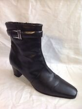 Clarks Black Ankle Leather Boots Size 5.5D
