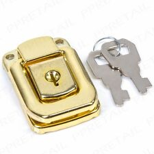 BRASS TOGGLE LOCK & Keys SMALL Case Briefcase Snap Catch Clip Flight Box Trunk