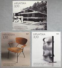 Kroatien Croatia 2018 Nr. 1350-52 Moderne Architektur und Design V. Richter