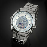Mens Watch Automatic White Dial Stainless Steel Strap Self-winding Gloss Luxury