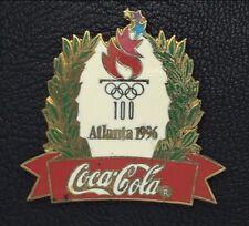 Coke Olympic Pin Badge~Sponsor~1996~Atlanta~Coca-Cola~Torch