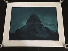 DAN MCCARTHY - Red Mountain - RARE SIGNED art screen print