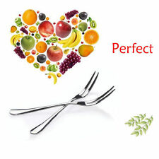 10PCS STAINLESS STEEL PASTRY DESSERT PUDDING CAKE TABLE DINNER FORK CUTLERY PACK